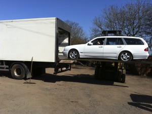 Mercedes E280 Estate Loaded Into Mercedes Atego